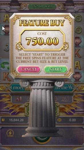 Rise of Apollo buy free spin 2